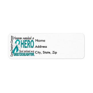 Heaven Needed a Hero Granddaughter Ovarian Cancer Return Address Label