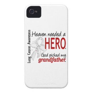 Heaven Needed a Hero Grandfather Lung Cancer iPhone 4 Case-Mate Cases