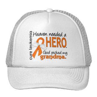 Heaven Needed a Hero Grandma Leukemia Trucker Hat