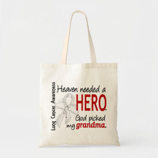 Heaven Needed A Hero Grandma Lung Cancer Tote Bag