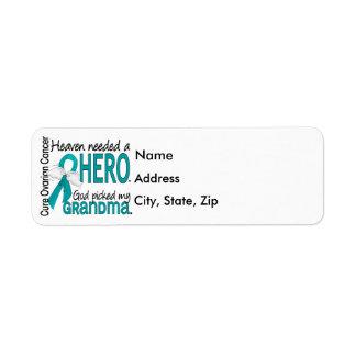 Heaven Needed a Hero Grandma Ovarian Cancer Return Address Label