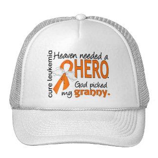 Heaven Needed a Hero Granny Leukemia Hats