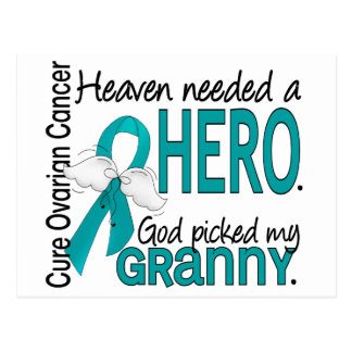 Heaven Needed a Hero Granny Ovarian Cancer Postcard
