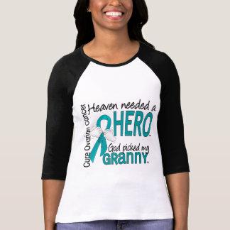 Heaven Needed a Hero Granny Ovarian Cancer Tshirt