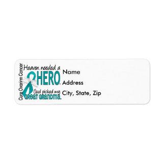 Heaven Needed a Hero Great Grandma Ovarian Cancer Return Address Label
