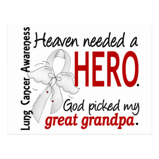 Heaven Needed a Hero Great Grandpa Lung Cancer Postcard