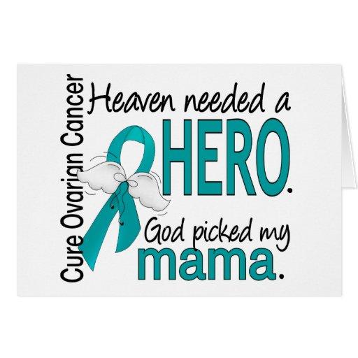 Heaven Needed a Hero Mama Ovarian Cancer Card