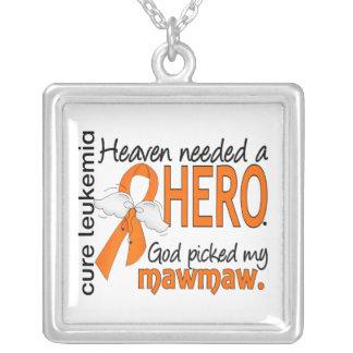 Heaven Needed a Hero Mawmaw Leukemia Necklaces