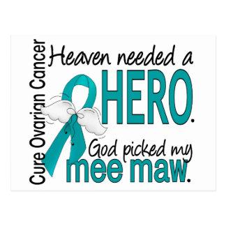 Heaven Needed a Hero Mee Maw Ovarian Cancer Postcard
