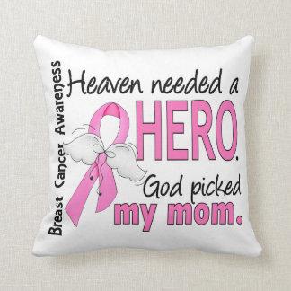 Heaven Needed A Hero Mom Breast Cancer Cushion