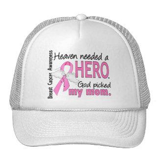 Heaven Needed A Hero Mom Breast Cancer Trucker Hats