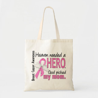 Heaven Needed A Hero Mom Breast Cancer Tote Bag