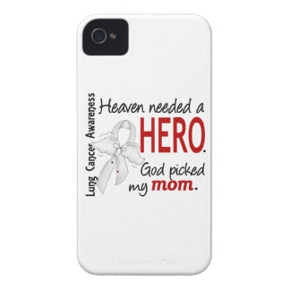 Heaven Needed A Hero Mom Lung Cancer Case-Mate iPhone 4 Cases