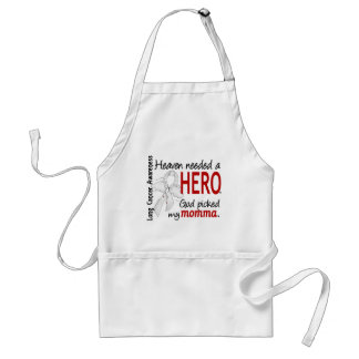 Heaven Needed A Hero Momma Lung Cancer Aprons