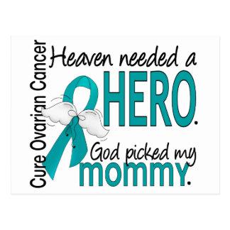 Heaven Needed a Hero Mommy Ovarian Cancer Postcard