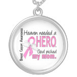 Heaven Needed A Hero Mum Breast Cancer Personalised Necklace