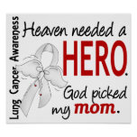 Heaven Needed A Hero Mum Lung Cancer Print