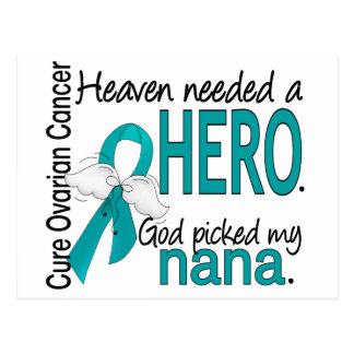 Heaven Needed a Hero Nana Ovarian Cancer Postcard