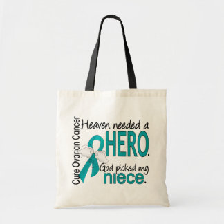 Heaven Needed a Hero Niece Ovarian Cancer Tote Bags