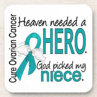 Heaven Needed a Hero Niece Ovarian Cancer Coasters