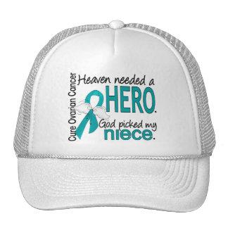 Heaven Needed a Hero Niece Ovarian Cancer Mesh Hat