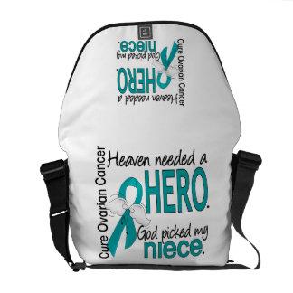Heaven Needed a Hero Niece Ovarian Cancer Messenger Bags