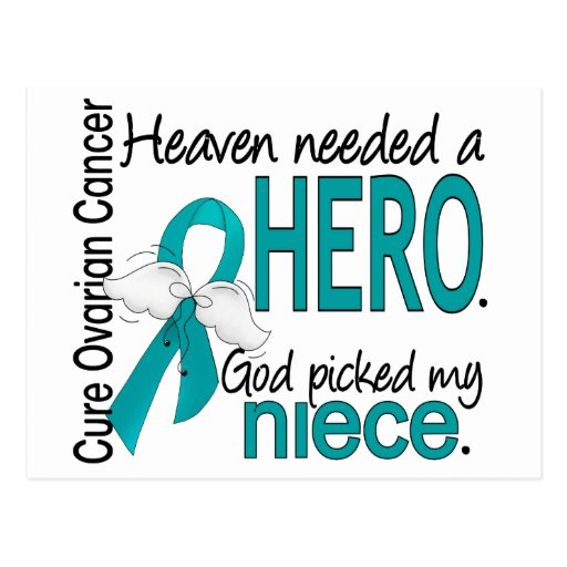 Heaven Needed a Hero Niece Ovarian Cancer Post Cards