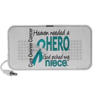 Heaven Needed a Hero Niece Ovarian Cancer Portable Speakers