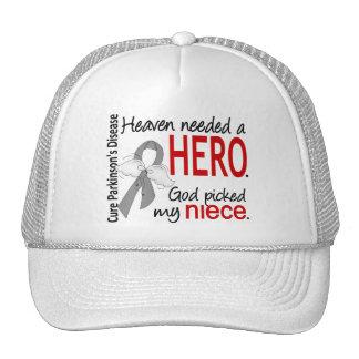 Heaven Needed a Hero Niece Parkinson's Trucker Hat
