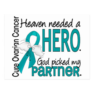 Heaven Needed a Hero Partner Ovarian Cancer Postcard