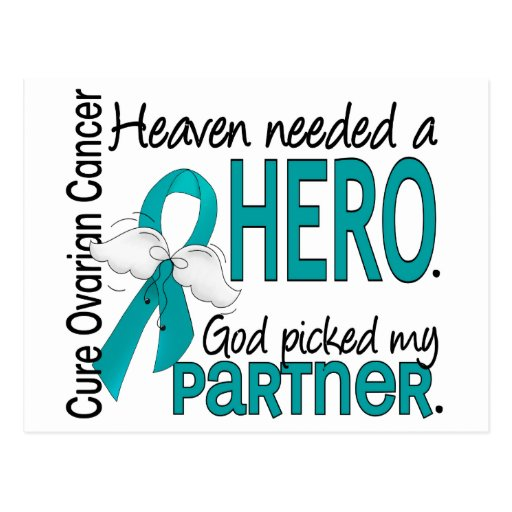 Heaven Needed a Hero Partner Ovarian Cancer Post Cards
