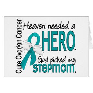 Heaven Needed a Hero Stepmom Ovarian Cancer Greeting Card