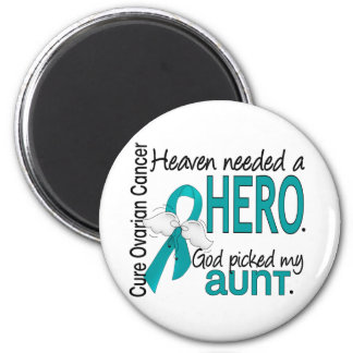 Heaven Needed a Hero Uterine Cancer Magnets