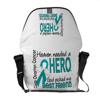 Heaven Needed a Hero Uterine Cancer Courier Bags