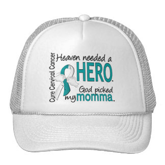 Heaven Needed Hero Cervical Cancer Momma Mesh Hats