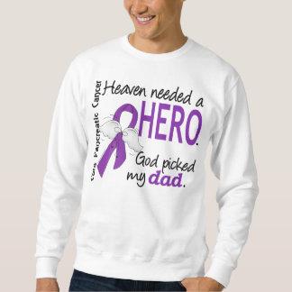 Heaven Needed Hero Dad Pancreatic Cancer Sweatshirt
