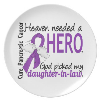 Heaven Needed Hero Daughter-In-Law Pancreatic Canc Party Plate
