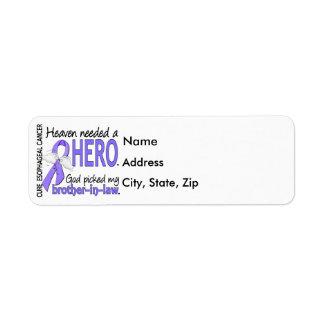 Heaven Needed Hero Esophageal Cancer Brother-In-La Return Address Label