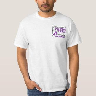Heaven Needed Hero Grandfather Pancreatic Cancer Tee Shirt