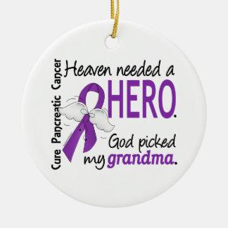 Heaven Needed Hero Grandma Pancreatic Cancer Ornament