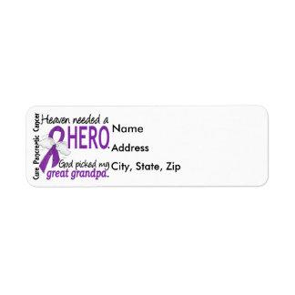 Heaven Needed Hero Great Grandpa Pancreatic Cancer Return Address Label