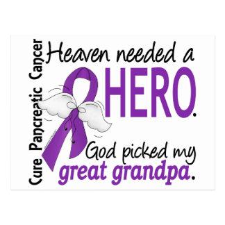 Heaven Needed Hero Great Grandpa Pancreatic Cancer Postcard