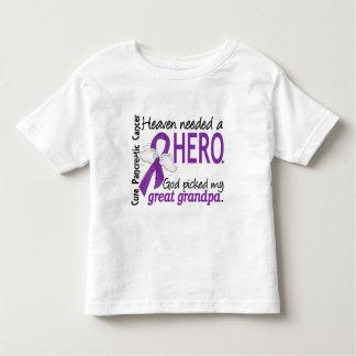 Heaven Needed Hero Great Grandpa Pancreatic Cancer Shirt