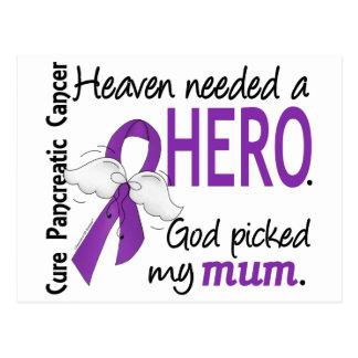 Heaven Needed Hero Mum Pancreatic Cancer Postcard