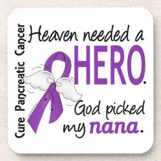 Heaven Needed Hero Nana Pancreatic Cancer Coasters