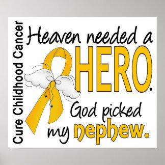 Heaven Needed Hero Nephew Childhood Cancer Posters