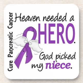 Heaven Needed Hero Niece Pancreatic Cancer Drink Coaster
