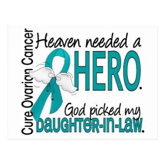 Heaven Needed Hero Ovarian Cancer Daughter-In-Law Postcard