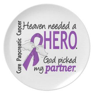 Heaven Needed Hero Partner Pancreatic Cancer Dinner Plate