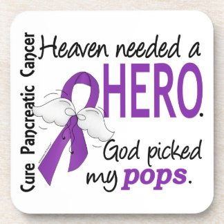 Heaven Needed Hero Pops Pancreatic Cancer Drink Coasters